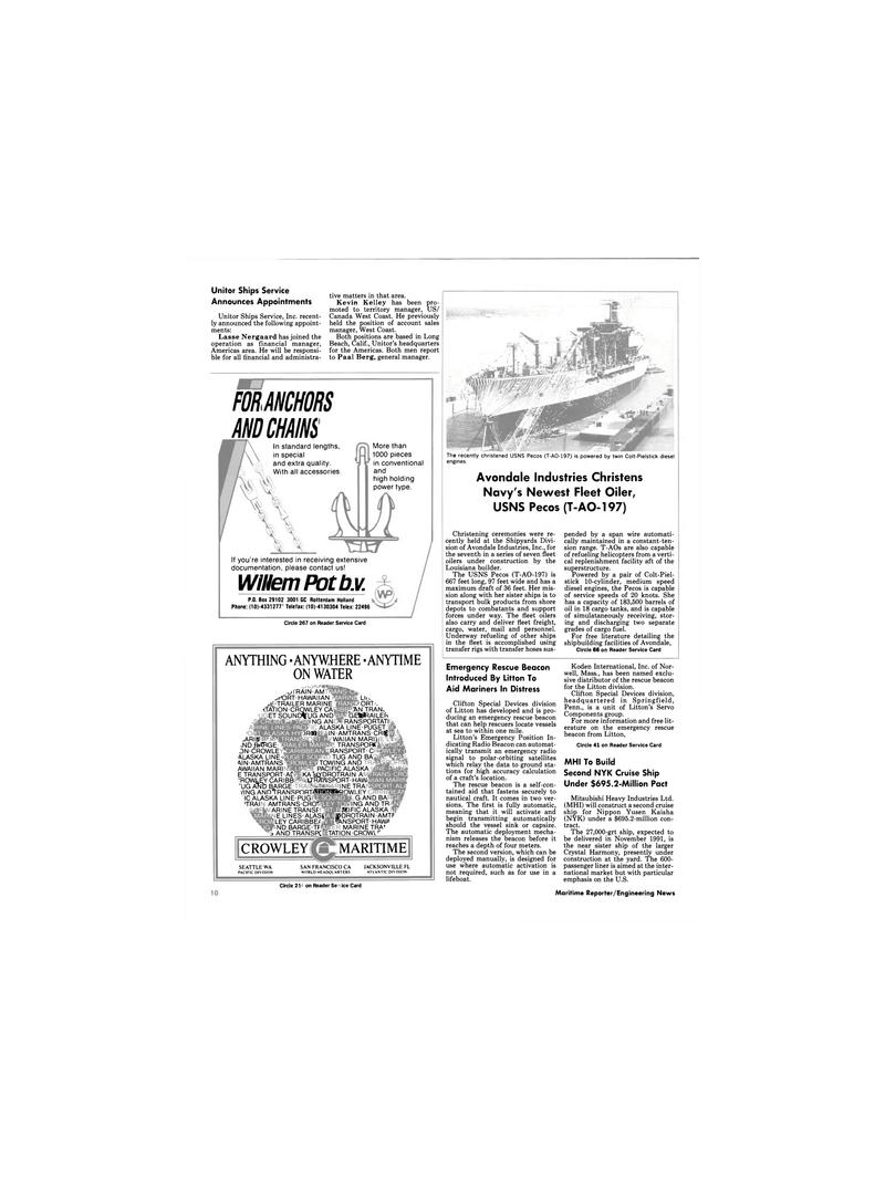 Maritime Reporter Magazine, page 8,  Dec 1989