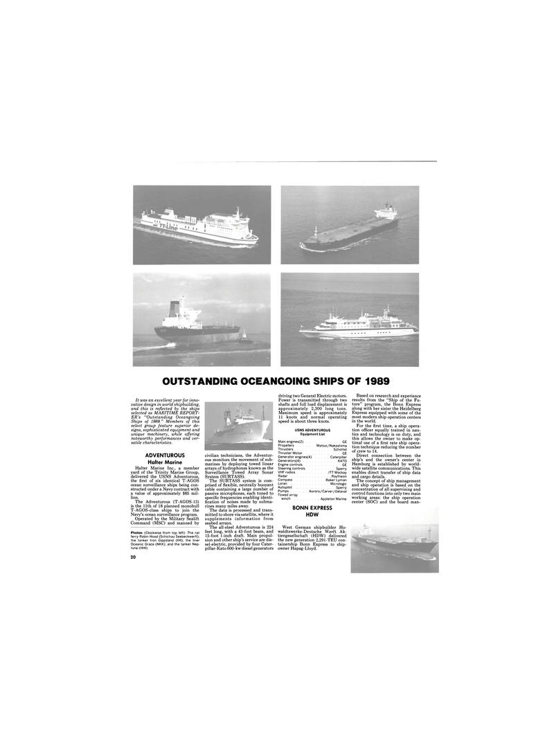 Maritime Reporter Magazine, page 18,  Dec 1989