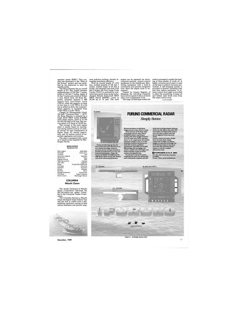 Maritime Reporter Magazine, page 19,  Dec 1989