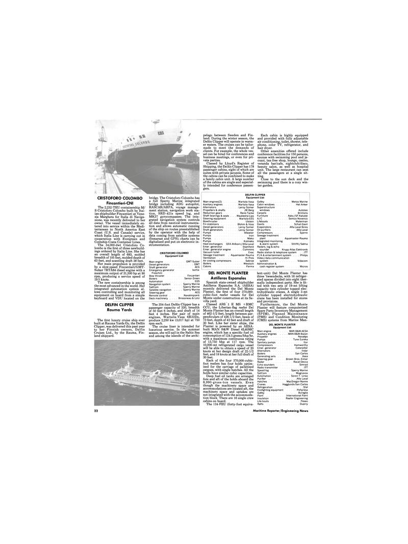 Maritime Reporter Magazine, page 20,  Dec 1989