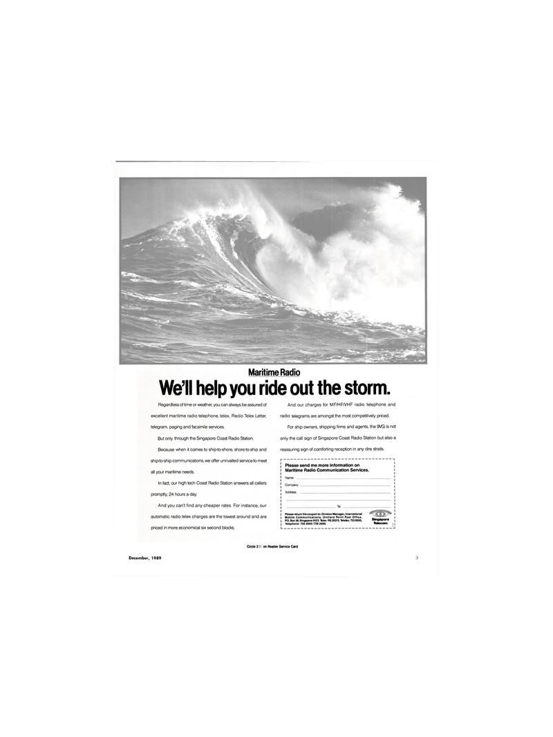 Maritime Reporter Magazine, page 1,  Dec 1989