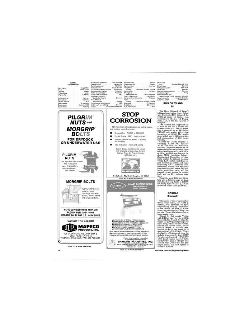Maritime Reporter Magazine, page 36,  Dec 1989