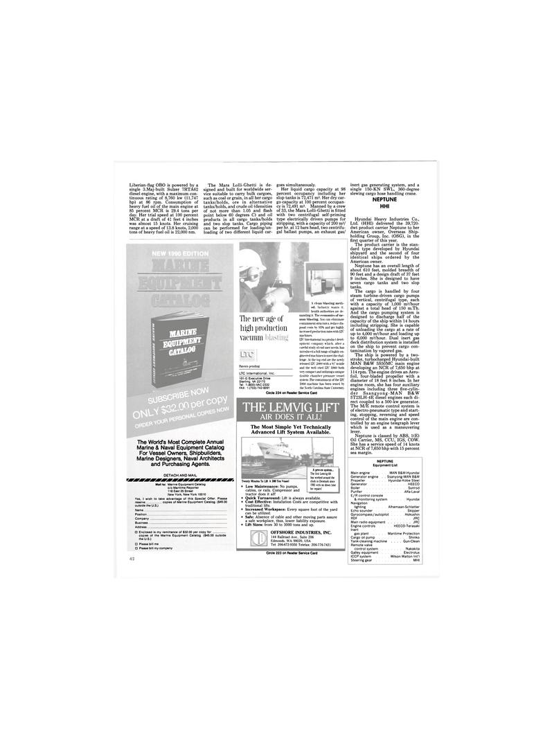 Maritime Reporter Magazine, page 42,  Dec 1989