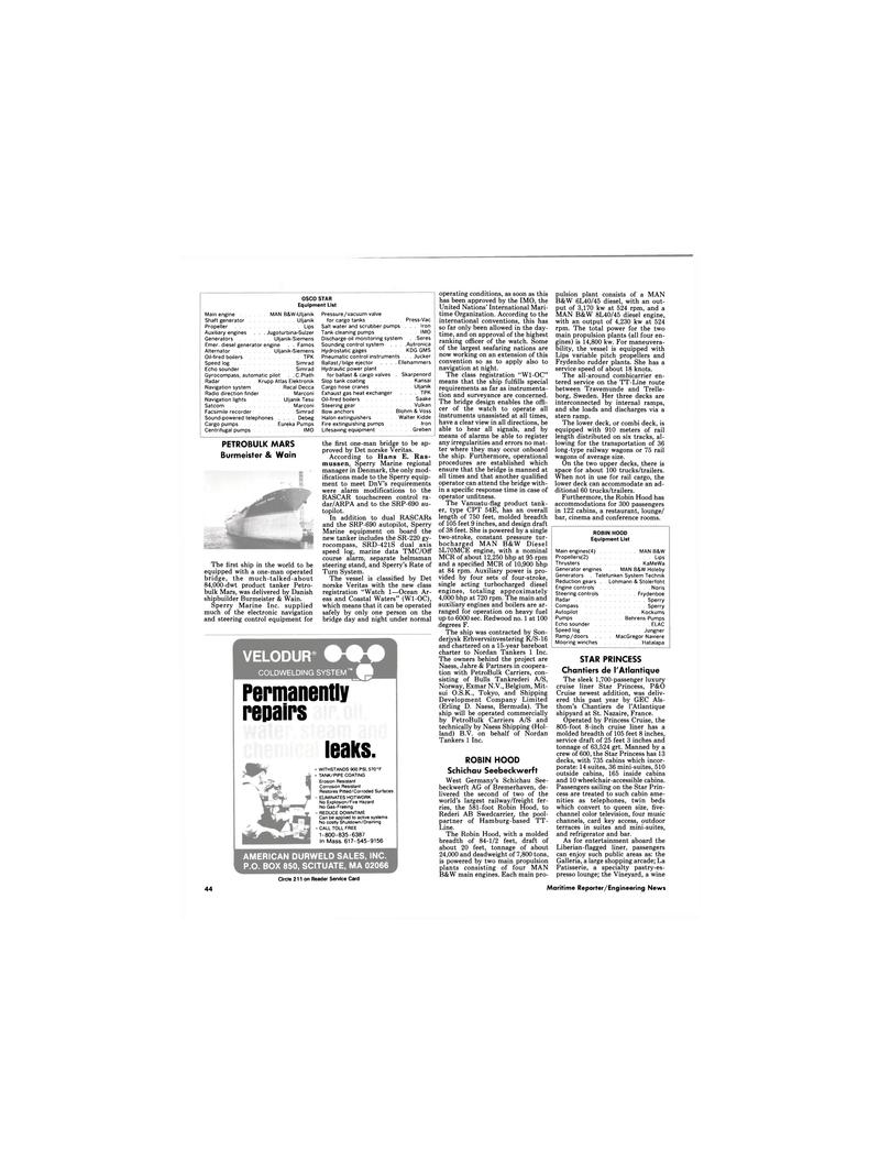 Maritime Reporter Magazine, page 44,  Dec 1989