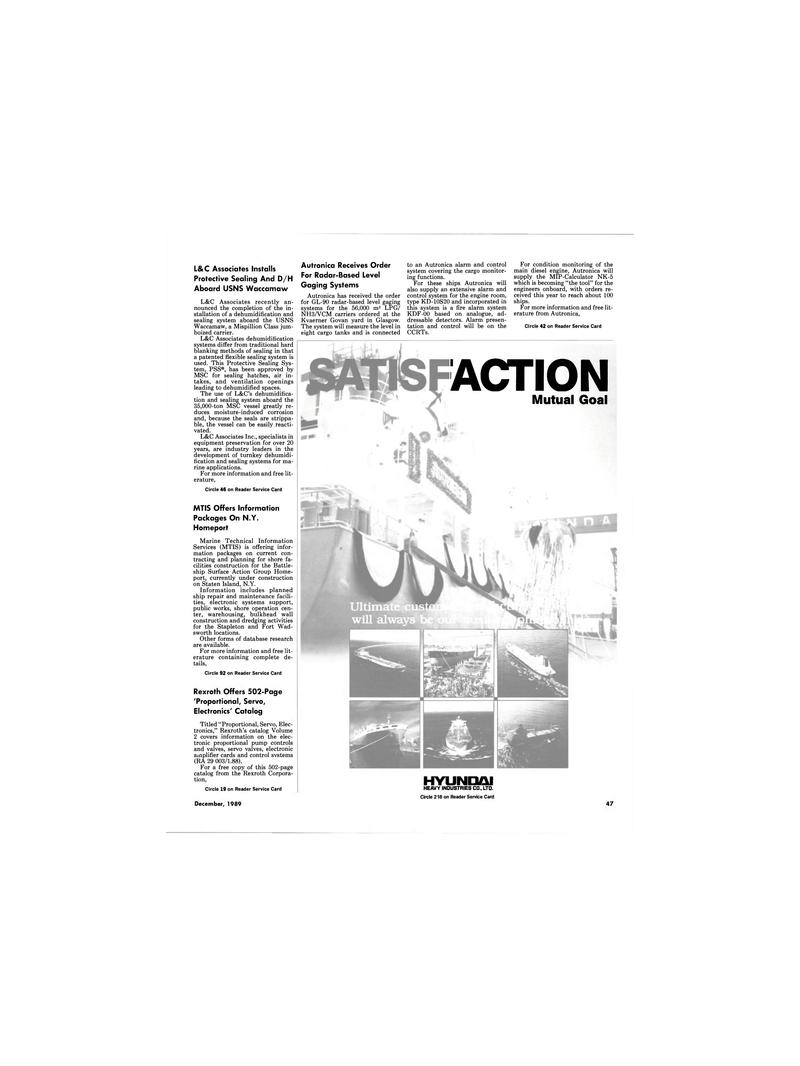 Maritime Reporter Magazine, page 47,  Dec 1989