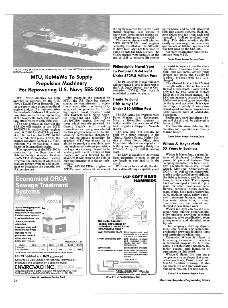 Maritime Reporter Magazine, page 32,  May 1990