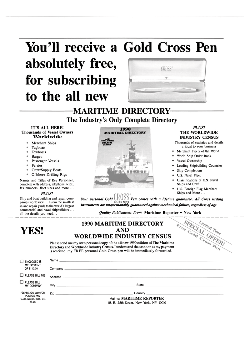 Maritime Reporter Magazine, page 34,  May 1990