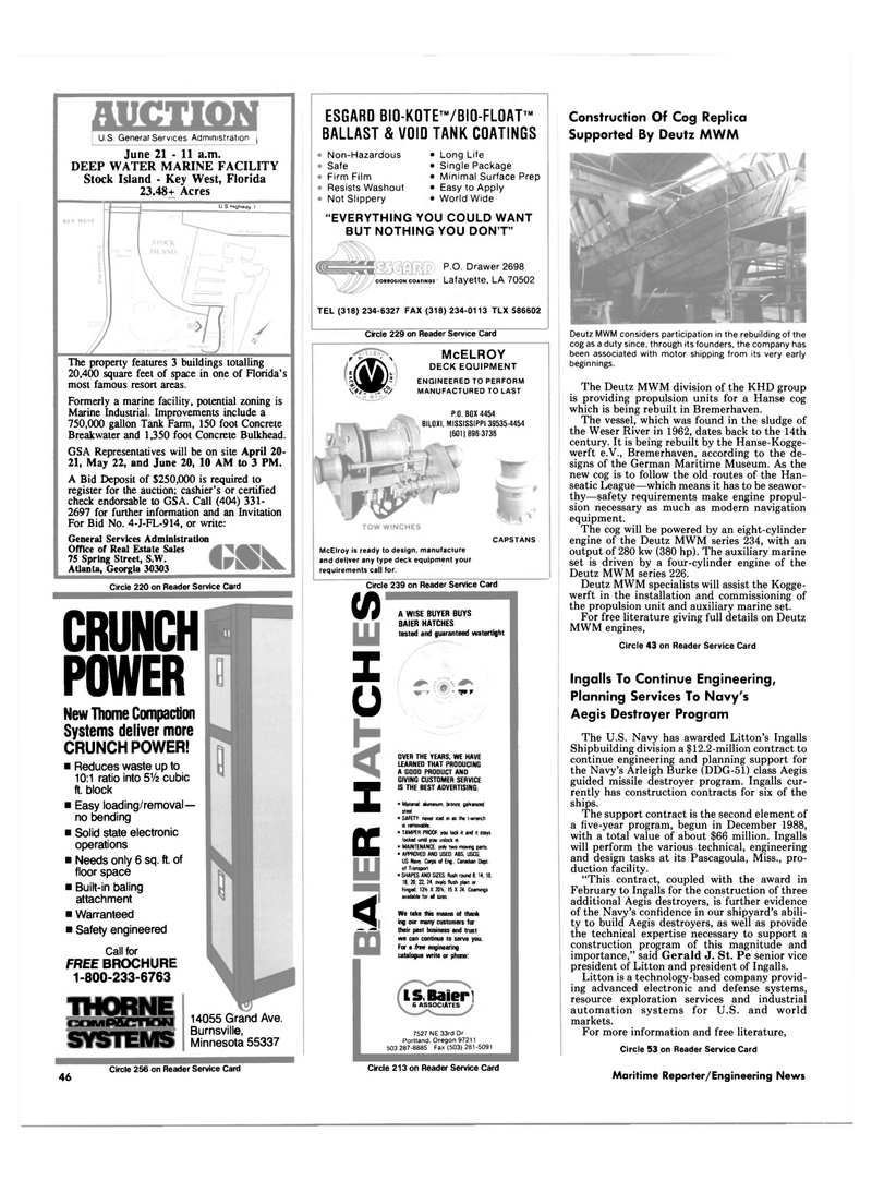 Maritime Reporter Magazine, page 44,  May 1990