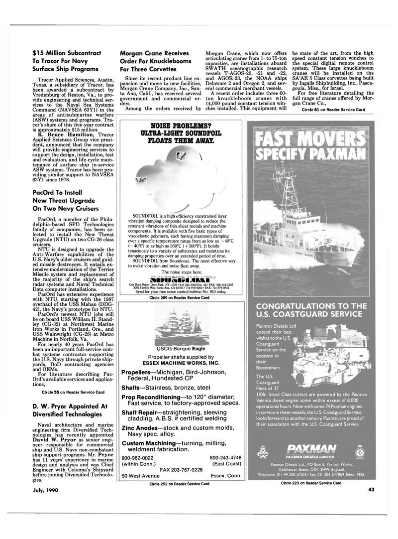 Maritime Reporter Magazine, page 46,  Jul 1990 New York