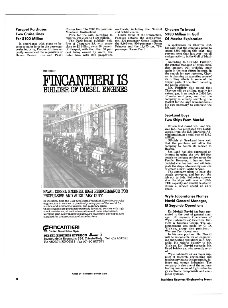 Maritime Reporter Magazine, page 6,  Jul 1990 New Jersey