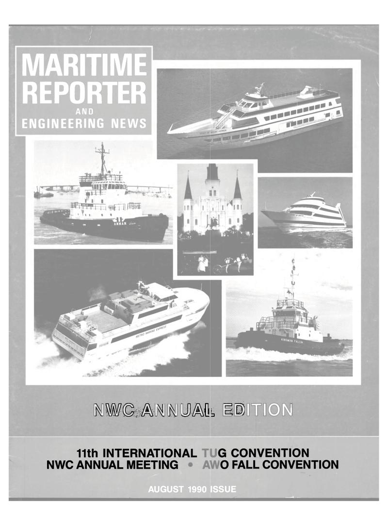 Maritime Reporter Magazine Cover Aug 1990 -