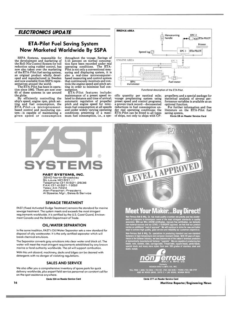 Maritime Reporter Magazine, page 14,  Aug 1990 Alan Fleischer