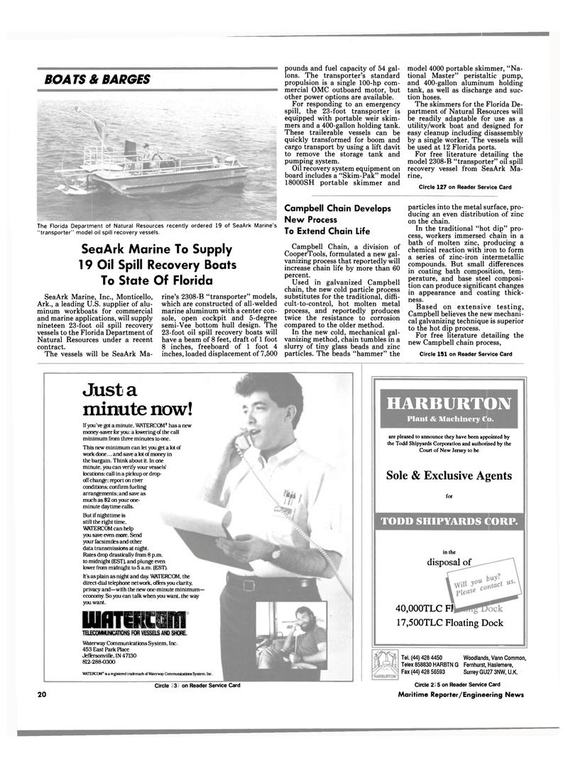 Maritime Reporter Magazine, page 20,  Aug 1990 Florida