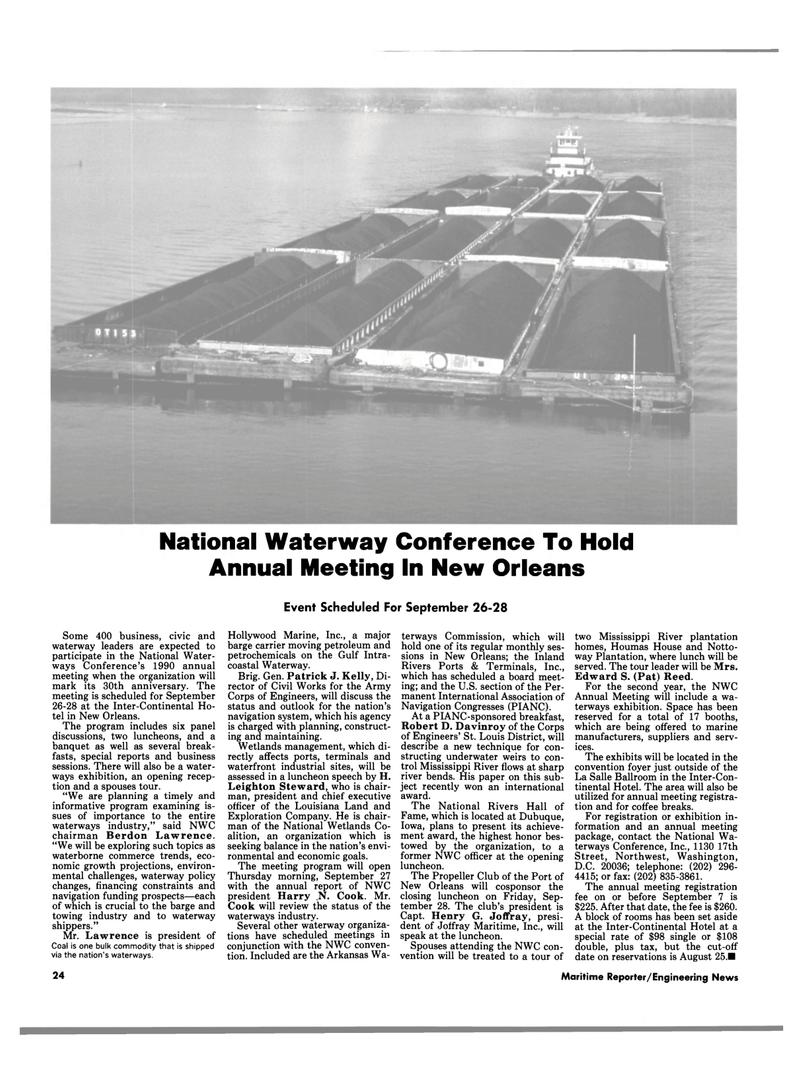 Maritime Reporter Magazine, page 24,  Aug 1990 Iowa