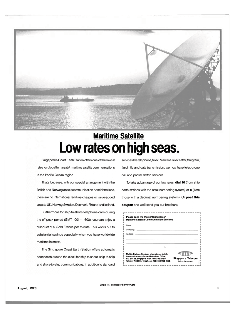 Maritime Reporter Magazine, page 1,  Aug 1990 Pacific Ocean