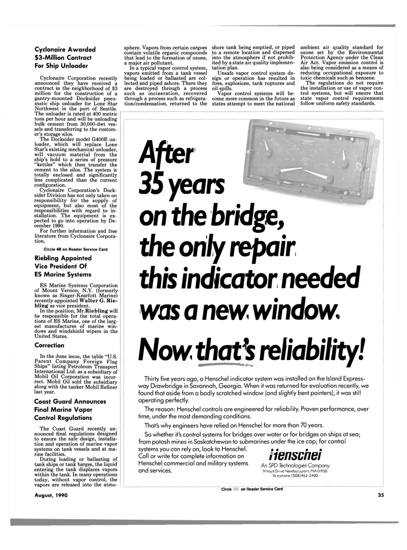 Maritime Reporter Magazine, page 35,  Aug 1990 military systems An SPD Technologies