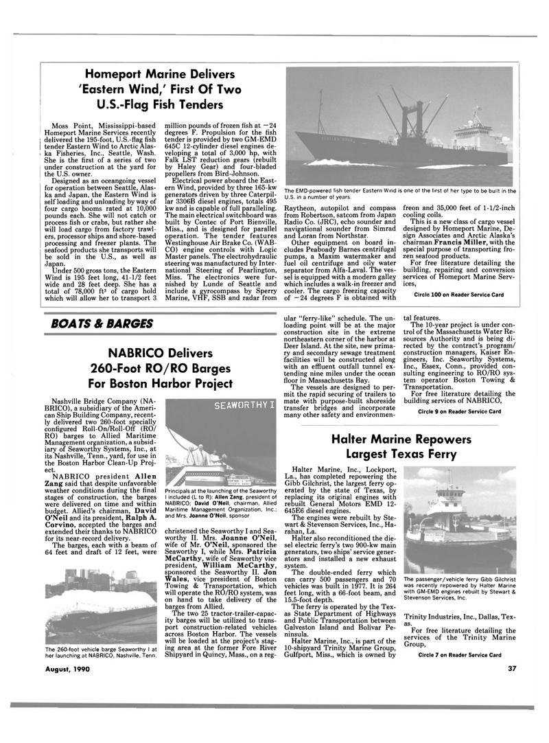 Maritime Reporter Magazine, page 37,  Aug 1990 Connecticut