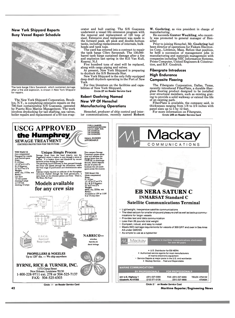 Maritime Reporter Magazine, page 42,  Aug 1990 New York