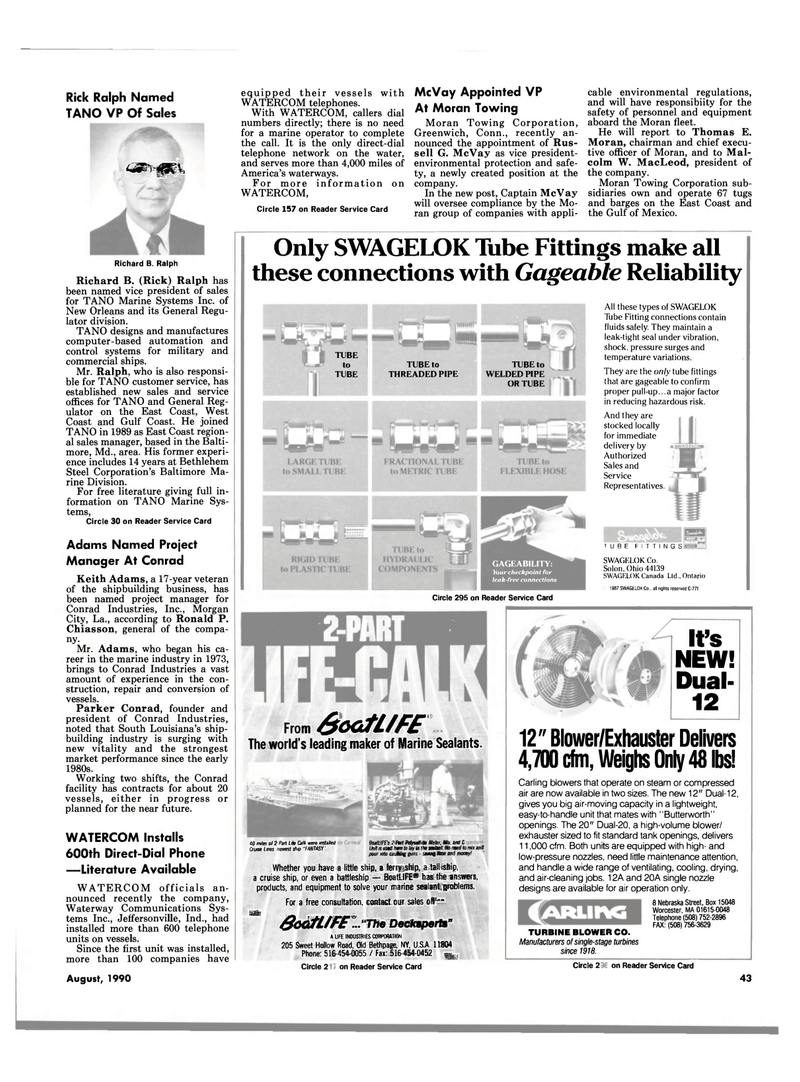 Maritime Reporter Magazine, page 43,  Aug 1990 south Louisiana