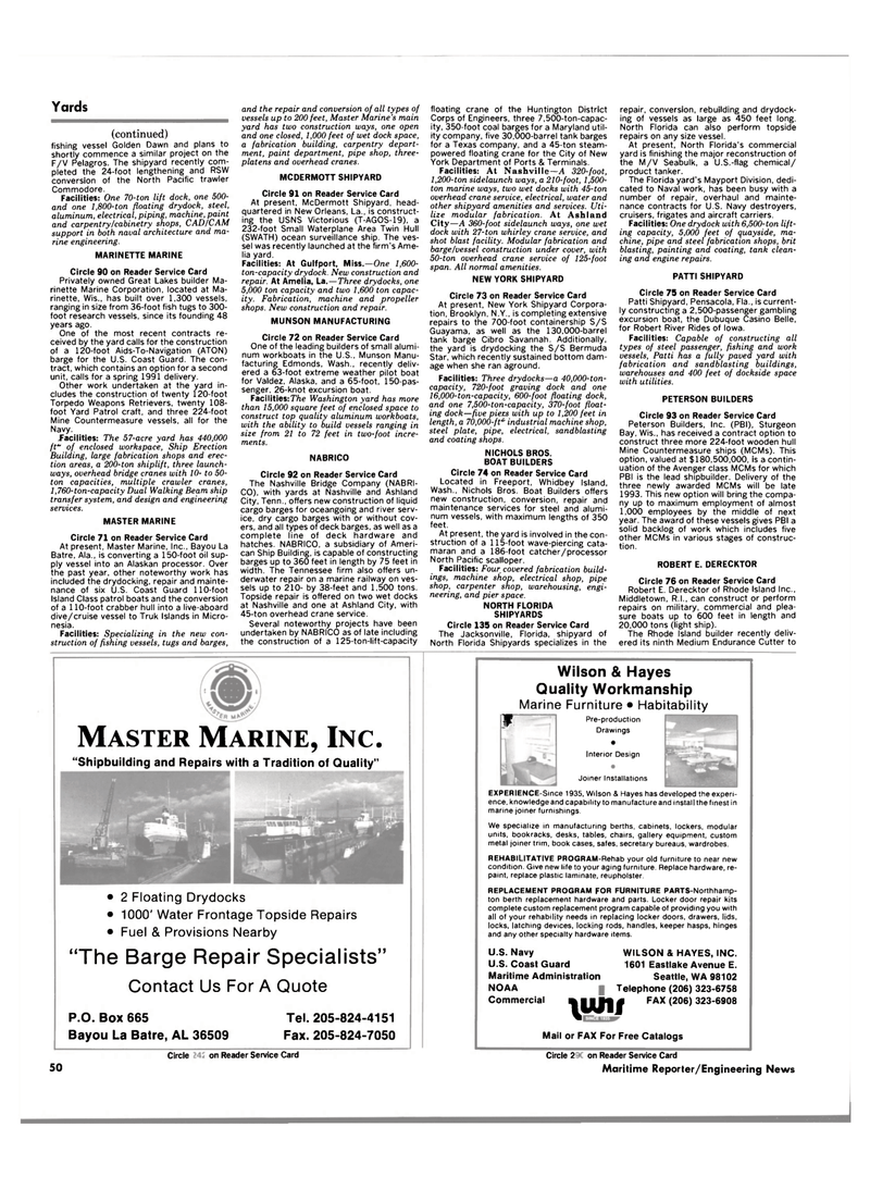 Maritime Reporter Magazine, page 50,  Aug 1990