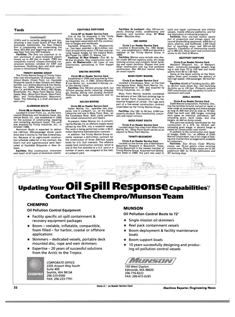 Maritime Reporter Magazine, page 52,  Aug 1990 Oregon