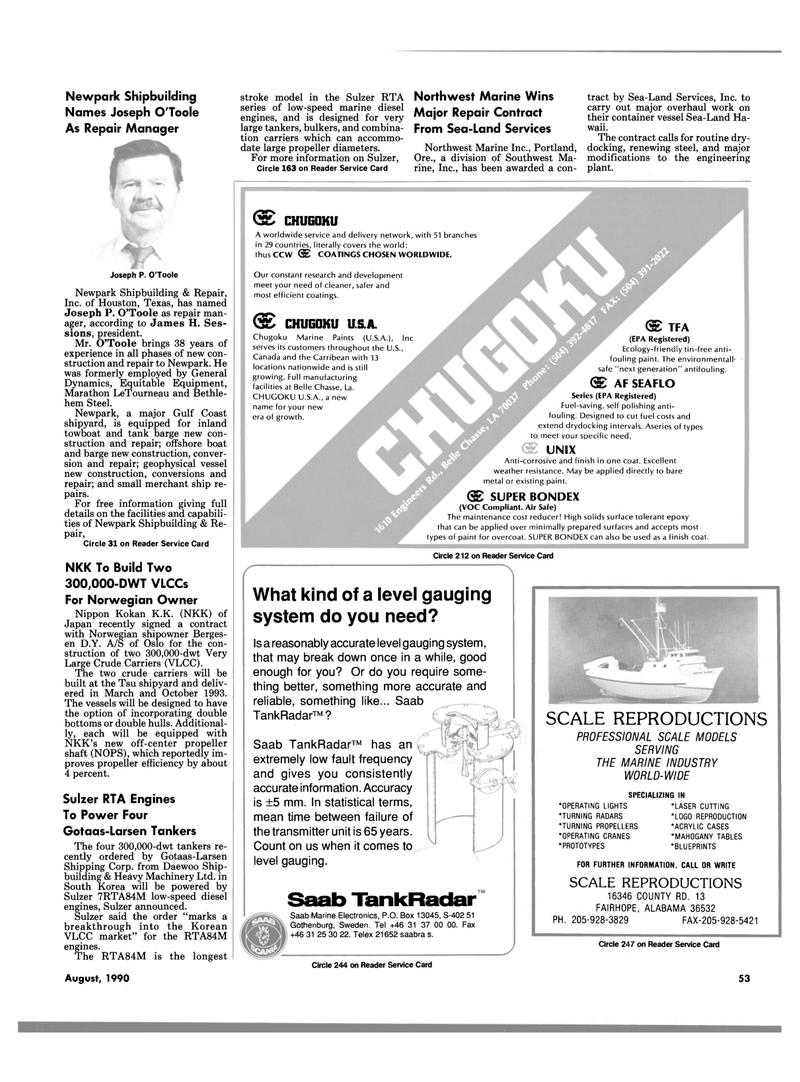 Maritime Reporter Magazine, page 53,  Aug 1990 Gulf coast