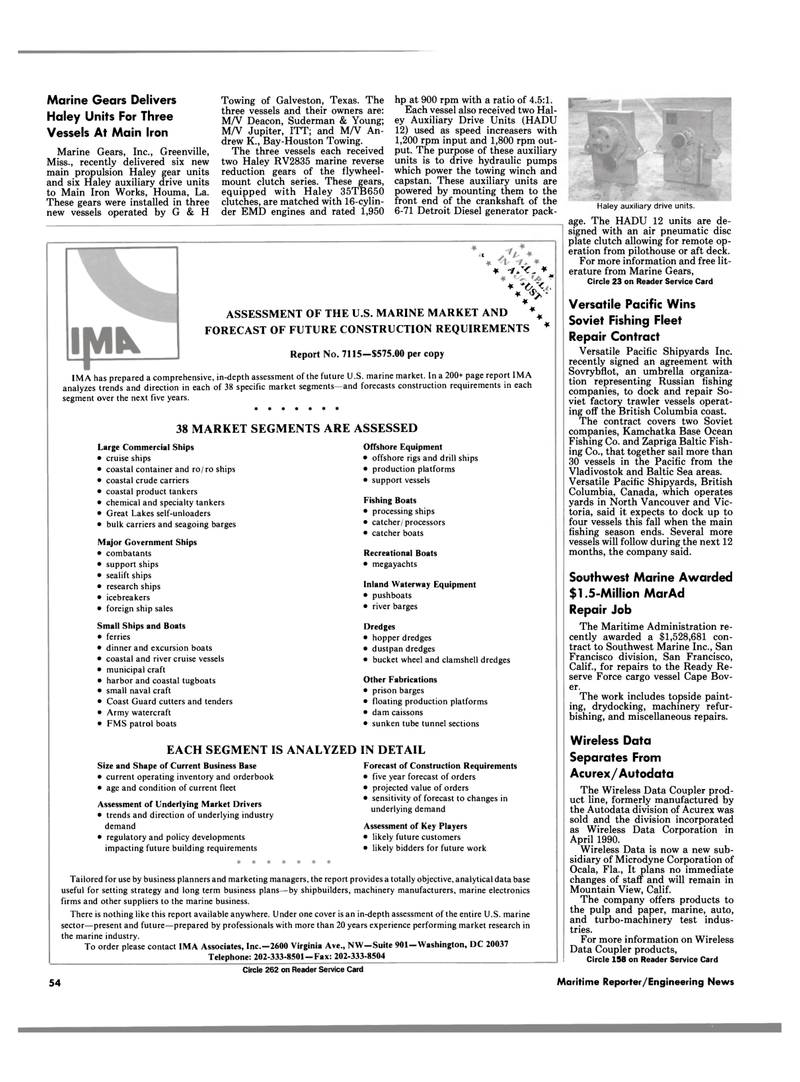 Maritime Reporter Magazine, page 54,  Aug 1990 Mississippi