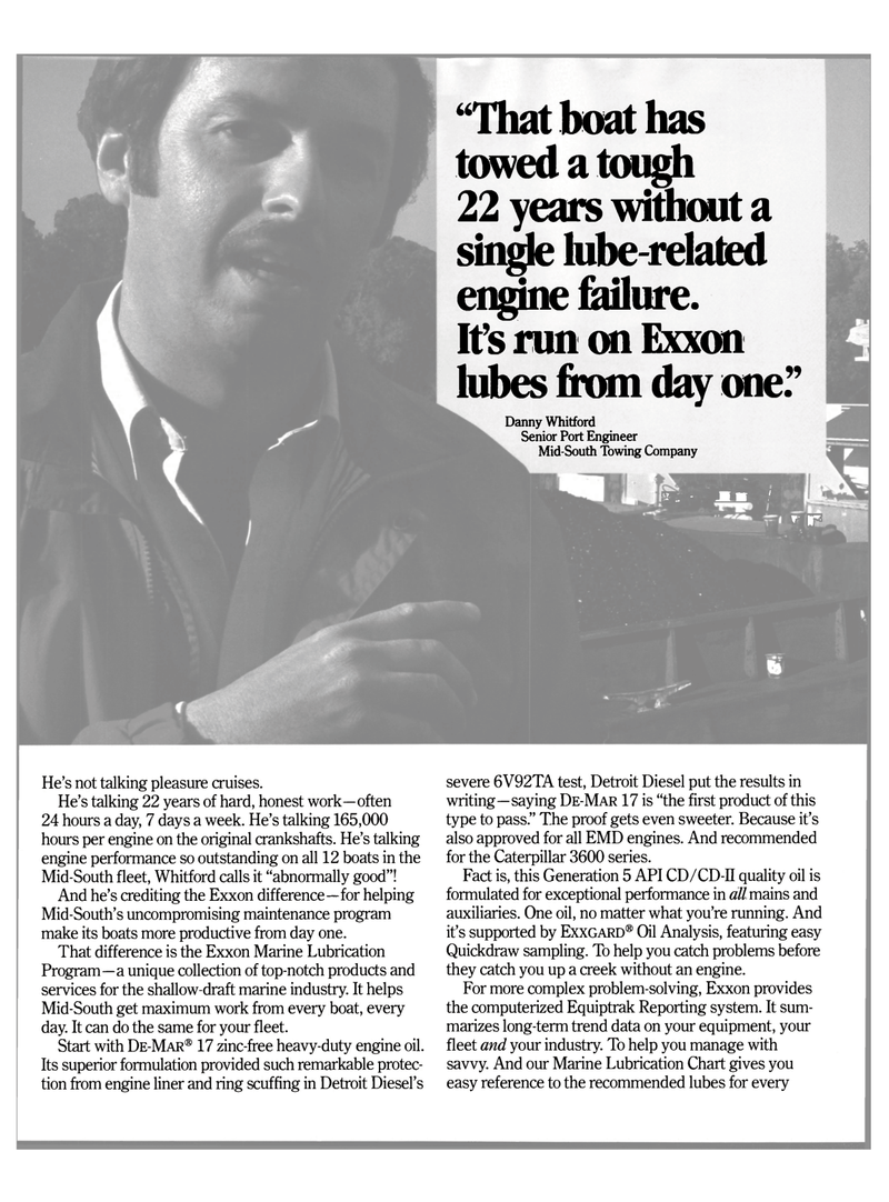 Maritime Reporter Magazine, page 4,  Aug 1990 quality oil