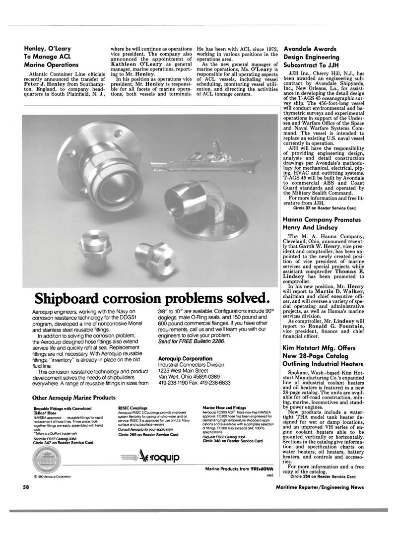 Maritime Reporter Magazine, page 58,  Aug 1990