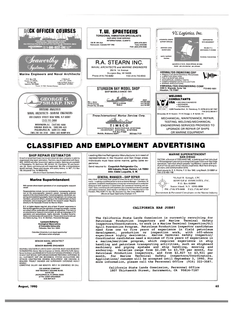 Maritime Reporter Magazine, page 63,  Aug 1990 N.Y