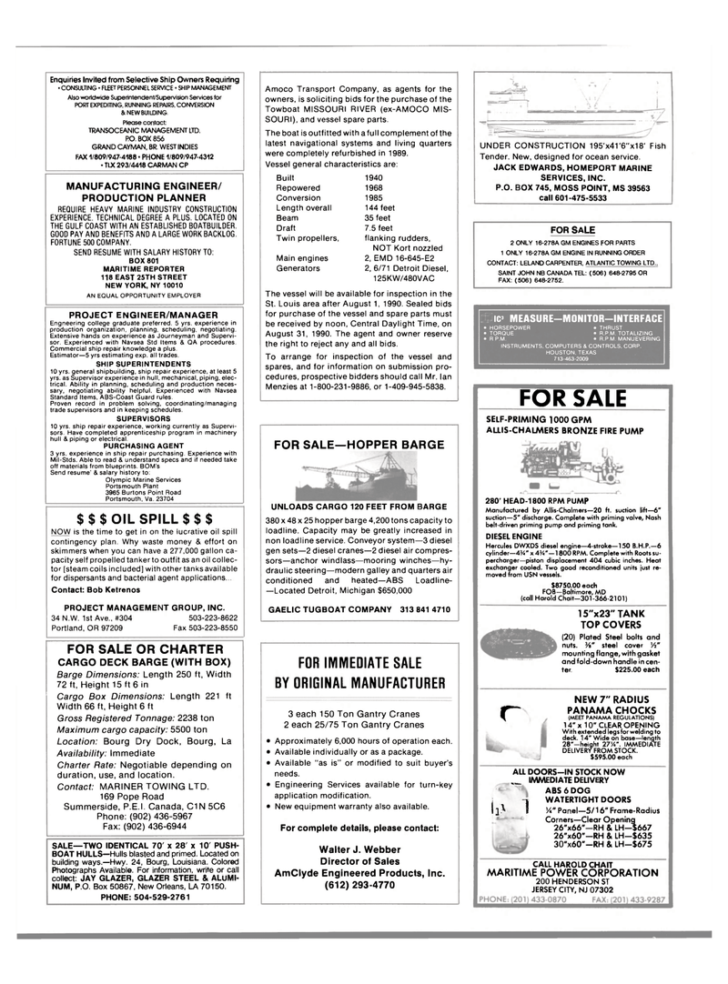 Maritime Reporter Magazine, page 64,  Aug 1990 Mississippi