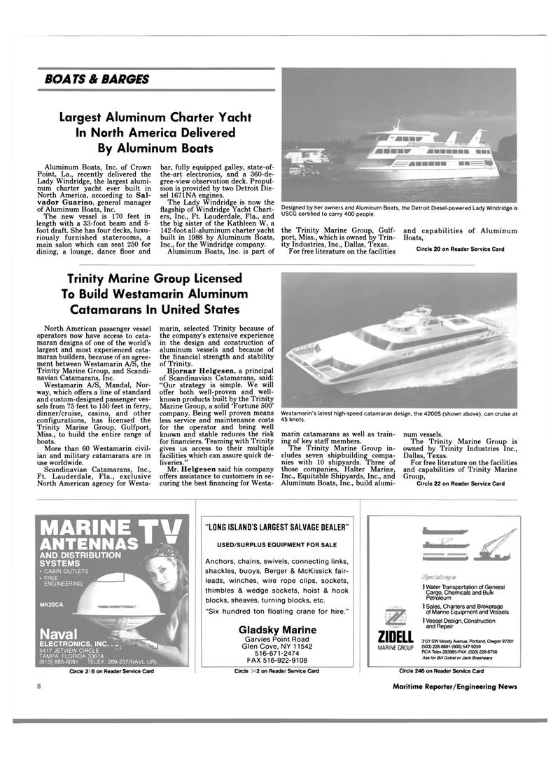 Maritime Reporter Magazine, page 6,  Aug 1990 the-art electronics