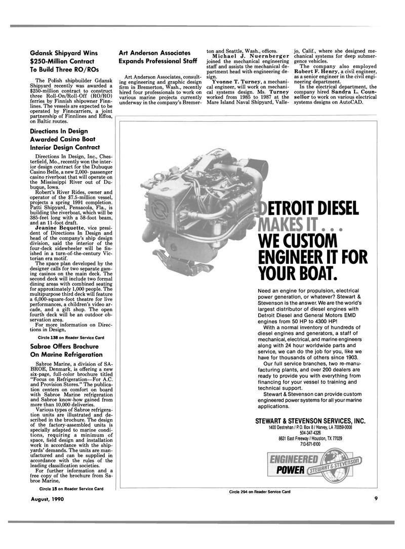 Maritime Reporter Magazine, page 7,  Aug 1990 California