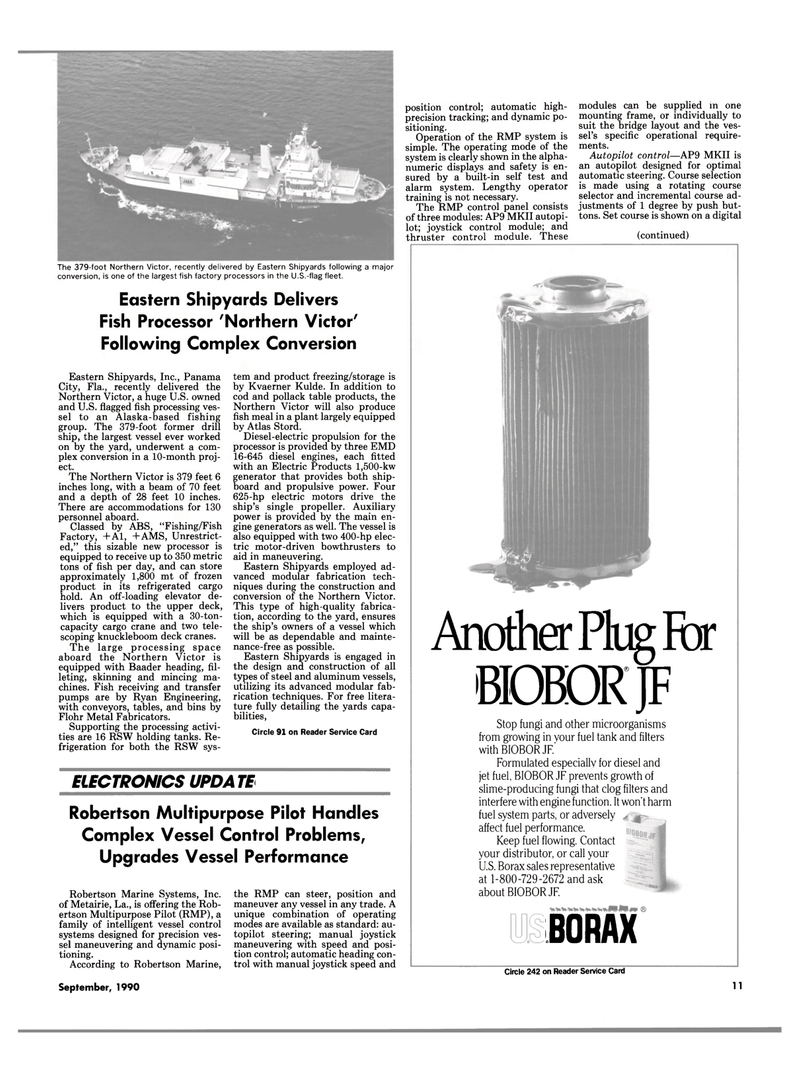 Maritime Reporter Magazine, page 9,  Sep 1990 Alaska