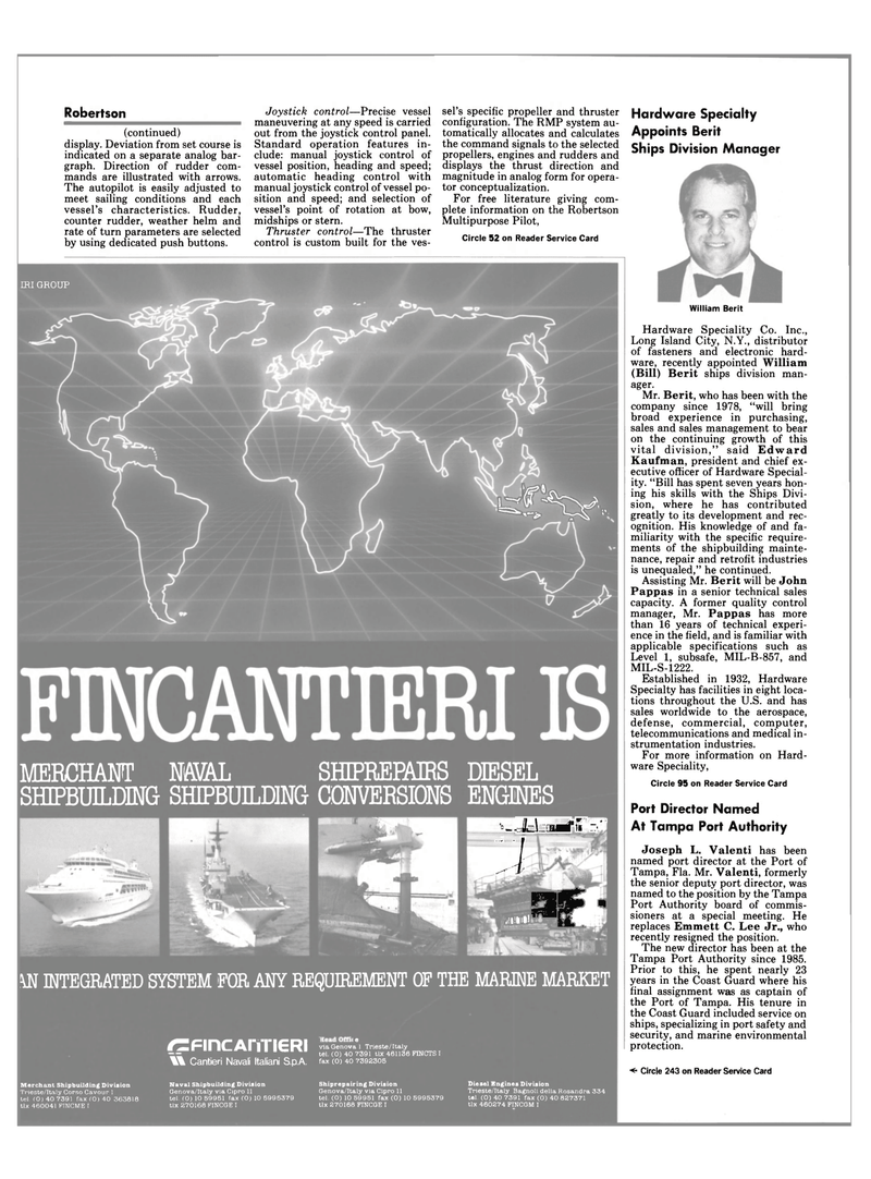Maritime Reporter Magazine, page 10,  Sep 1990