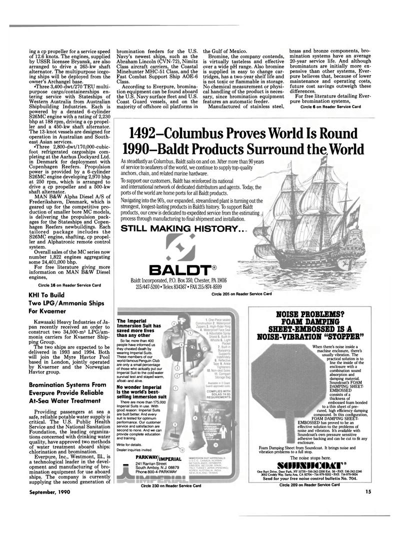 Maritime Reporter Magazine, page 13,  Sep 1990 California