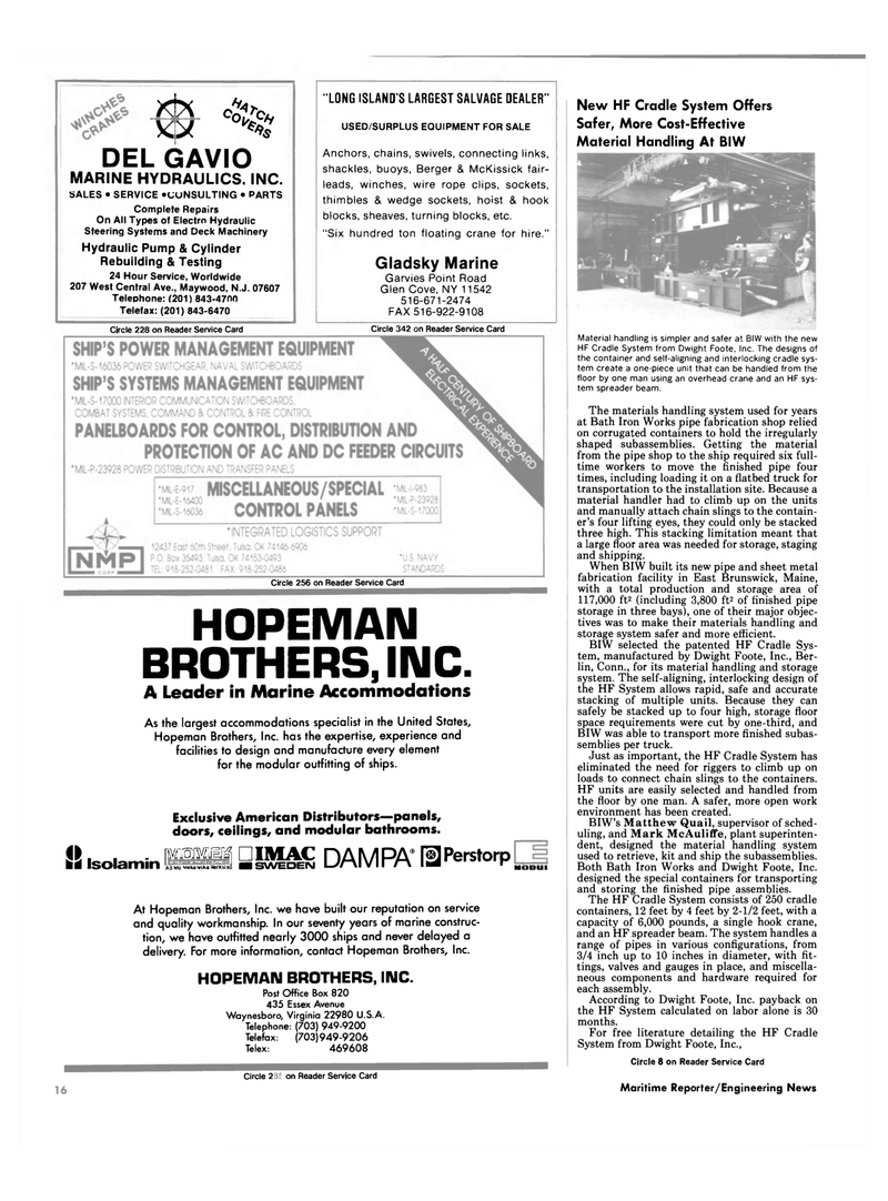 Maritime Reporter Magazine, page 14,  Sep 1990 Glen Cove