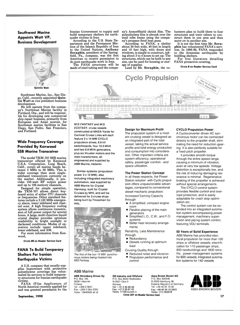 Maritime Reporter Magazine, page 15,  Sep 1990