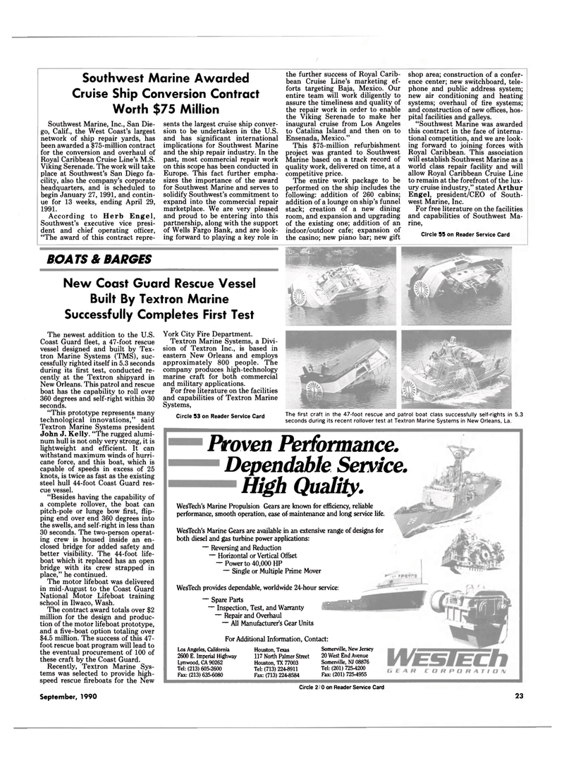 Maritime Reporter Magazine, page 21,  Sep 1990