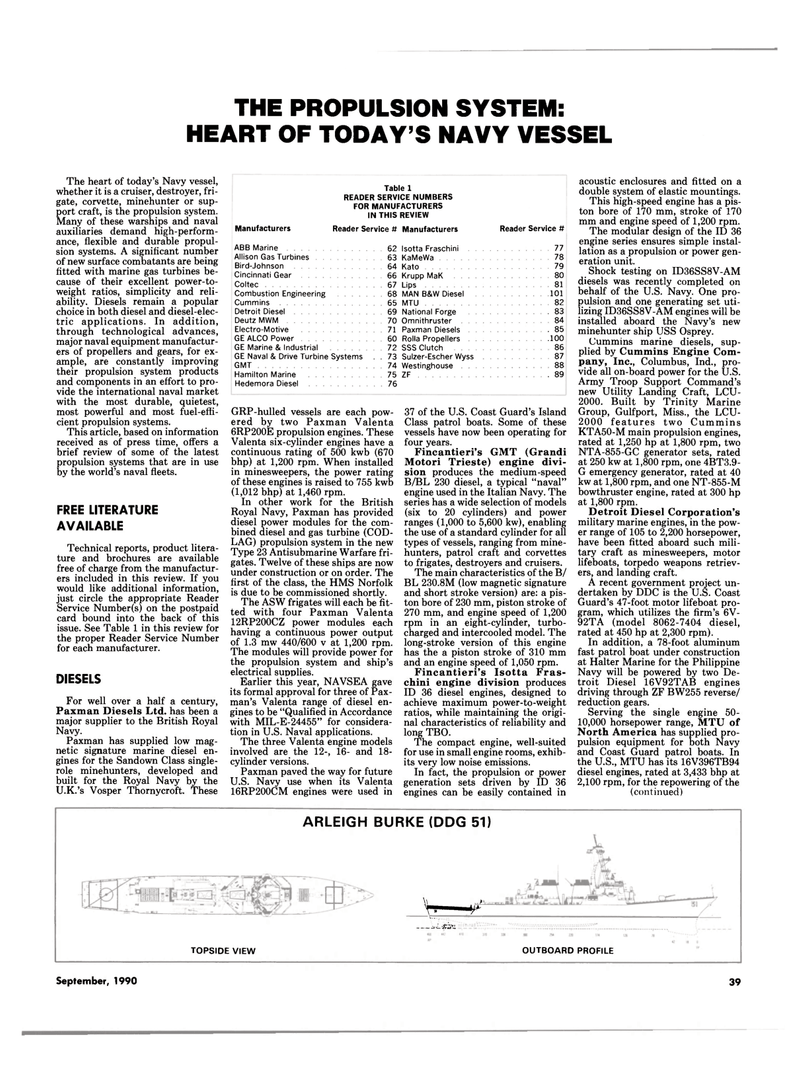 Maritime Reporter Magazine, page 37,  Sep 1990 Review Manufacturers Reader Service