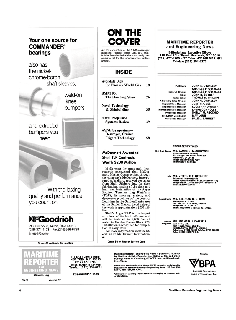 Maritime Reporter Magazine, page 2,  Sep 1990