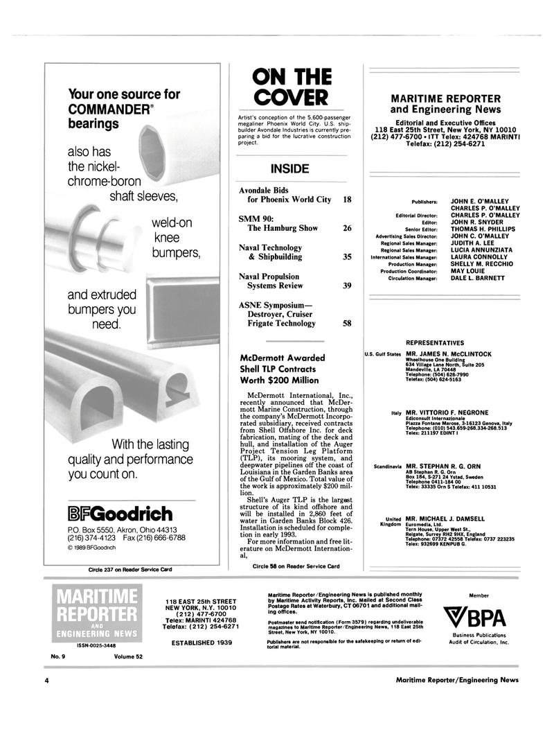 Maritime Reporter Magazine, page 2,  Sep 1990 Louisiana