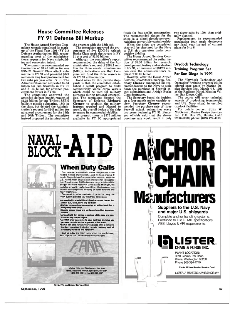 Maritime Reporter Magazine, page 45,  Sep 1990