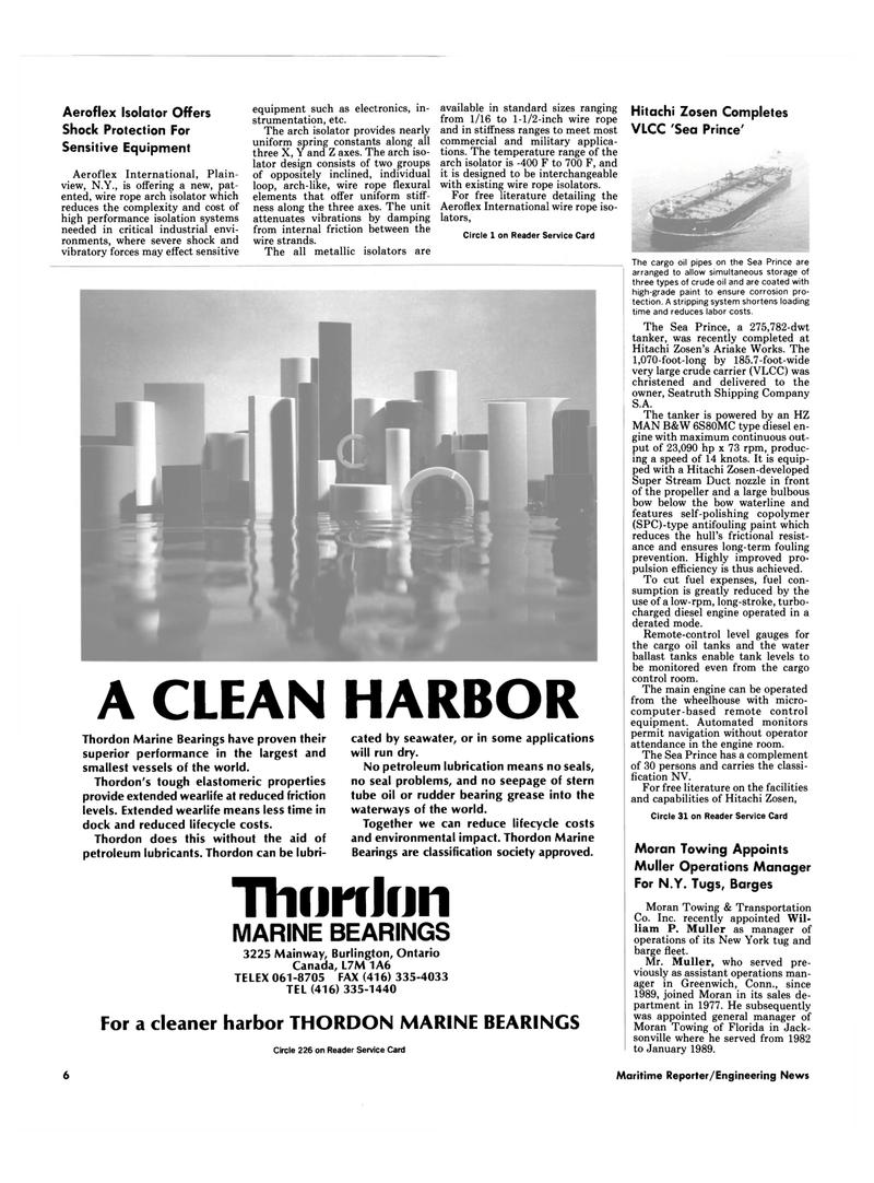 Maritime Reporter Magazine, page 4,  Sep 1990 New York