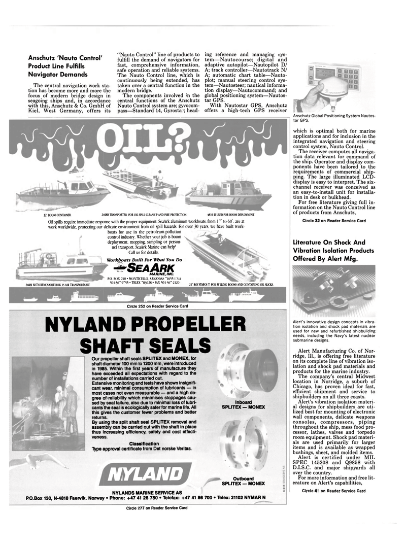 Maritime Reporter Magazine, page 60,  Sep 1990