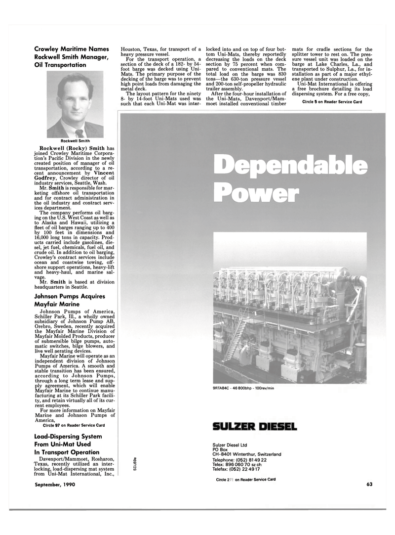 Maritime Reporter Magazine, page 61,  Sep 1990 Hawaii
