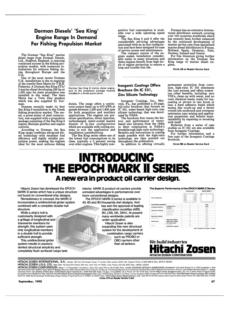 Maritime Reporter Magazine, page 65,  Sep 1990 West Germany