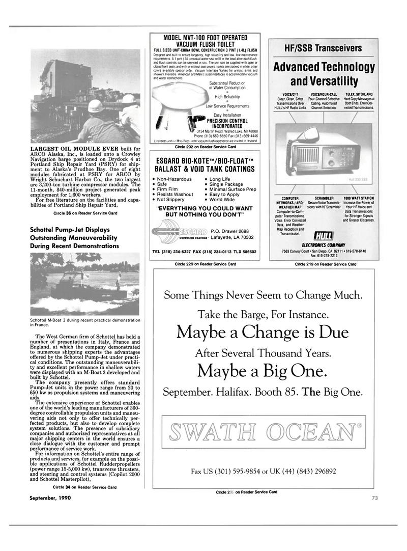 Maritime Reporter Magazine, page 71,  Sep 1990 Alaska