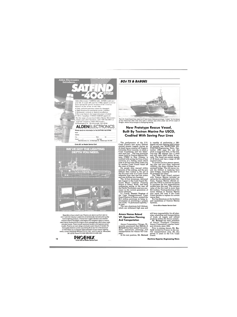 Maritime Reporter Magazine, page 11,  Mar 1991 Columbia River