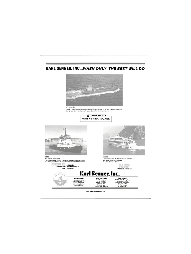 Maritime Reporter Magazine, page 2nd Cover,  Mar 1991 Louisiana